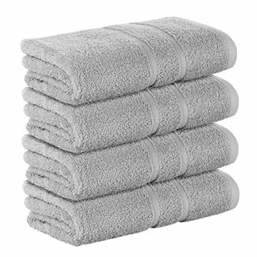 StickandShine 4er Set Premium Frottee Handtuch 50x100 cm in hellgrau in 500g/m² aus 100% Baumwolle Öko-TEX Standard 100 Materialien - 2