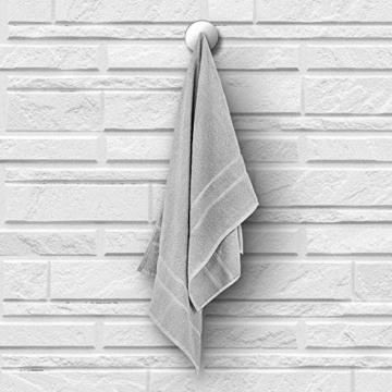 StickandShine 4er Set Premium Frottee Handtuch 50x100 cm in hellgrau in 500g/m² aus 100% Baumwolle Öko-TEX Standard 100 Materialien - 3