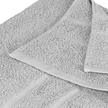 StickandShine 4er Set Premium Frottee Handtuch 50x100 cm in hellgrau in 500g/m² aus 100% Baumwolle Öko-TEX Standard 100 Materialien - 4