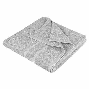 StickandShine 4er Set Premium Frottee Handtuch 50x100 cm in hellgrau in 500g/m² aus 100% Baumwolle Öko-TEX Standard 100 Materialien - 5