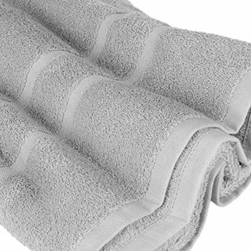 StickandShine 4er Set Premium Frottee Handtuch 50x100 cm in hellgrau in 500g/m² aus 100% Baumwolle Öko-TEX Standard 100 Materialien - 6