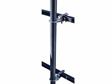 STORM-PROOF - Sonnenschirmhalter für rechteckige Geländer, Schirmstockdurchmesser von 32mm bis 38mm, stabile 2-Punkt-Befestigung komplett aus Stahl - 2