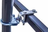 STORM-PROOF - Sonnenschirmhalter für rechteckige Geländer, Schirmstockdurchmesser von 38mm bis 45mm, stabile 2-Punkt-Befestigung komplett aus Stahl - 1