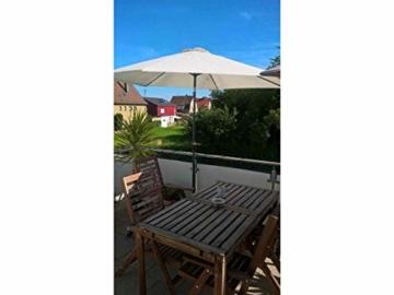 STORM-PROOF - Sonnenschirmhalter für runde Geländer, Schirmstockdurchmesser von 32mm bis 38mm, stabile 2-Punkt-Befestigung komplett aus Stahl - 5