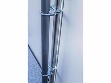 STORM-PROOF - Sonnenschirmhalter für runde Geländer, Schirmstockdurchmesser von 32mm bis 38mm, stabile 2-Punkt-Befestigung komplett aus Stahl - 7