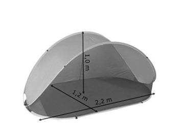 Strandmuschel Pop Up Strandzelt Dunkelblau Polyester blitzschneller Aufbau Wetter- und Sichtschutz Duhome 5063 - 2