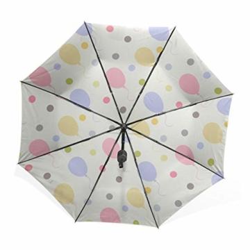 Strandschirm Für Kinder Überraschung Bunte Party Luftballons Tragbare Kompakte Taschenschirm Anti Uv Schutz Winddicht Outdoor Reise Frauen Herren Regenschirm Invertiert - 2