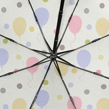 Strandschirm Für Kinder Überraschung Bunte Party Luftballons Tragbare Kompakte Taschenschirm Anti Uv Schutz Winddicht Outdoor Reise Frauen Herren Regenschirm Invertiert - 3