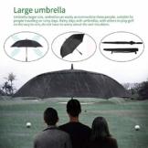 Swiftswan Extra große Spritzgusstechnologie Glasfaserschaft Anti-Rost Doppelmarkise Winddicht wasserdicht automatisch öffnender Golfschirm - 1