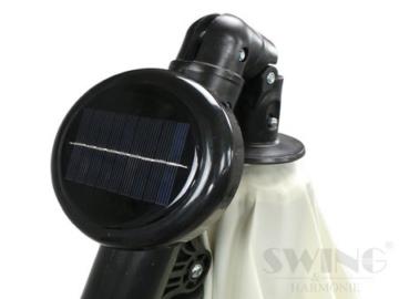 Swing&Harmonie Sonnenschirm mit LED Beleuchtung Ampelschirm 300cm / 350cm Solar Garten Schirm Pavillon (Ø 300cm, Creme) - 6