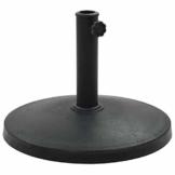 Tidyard Sonnenschirm Schirmständer Standard,Wand-Sonnenschirmfuß platzsparend rund- Balkonschirmständer Schwarz,10kg - 1