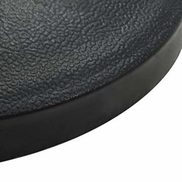 Tidyard Sonnenschirm Schirmständer Standard,Wand-Sonnenschirmfuß platzsparend rund- Balkonschirmständer Schwarz,10kg - 5