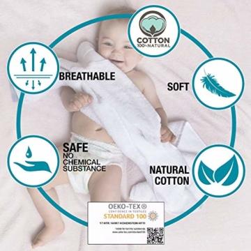 Twinzen Chemikalien-Frei Handtuch Set (6-Teilig) mit 4 Handtücher und 2 Badetüchern, 100% Baumwolle - Oeko TEX Std 100 Zertifizierung - Weich und Saugstark - Waschmaschinenfest - Schwimmbad - 4