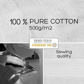 Twinzen Chemikalien-Frei Handtuch Set (6-Teilig) mit 4 Handtücher und 2 Badetüchern, 100% Baumwolle - Oeko TEX Std 100 Zertifizierung - Weich und Saugstark - Waschmaschinenfest - Schwimmbad - 6
