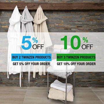 Twinzen Chemikalien-Frei Handtuch Set (6-Teilig) mit 4 Handtücher und 2 Badetüchern, 100% Baumwolle - Oeko TEX Std 100 Zertifizierung - Weich und Saugstark - Waschmaschinenfest - Schwimmbad - 7