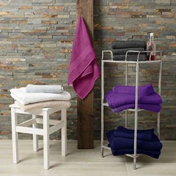 Twinzen Chemikalien-Frei Handtuch Set (6-Teilig) mit 4 Handtücher und 2 Badetüchern, 100% Baumwolle - Oeko TEX Std 100 Zertifizierung - Weich und Saugstark - Waschmaschinenfest - Schwimmbad - 8