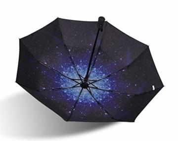 TYZXR Winddichter Regenschirm Compact, zusammenklappbarer Regenschirm Compact Golfschirm für Sun Rain Outdoor Beach, Beste kleine Geschenkidee für Mann & Frau (Farbe: # 1) - 2