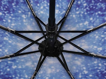 TYZXR Winddichter Regenschirm Compact, zusammenklappbarer Regenschirm Compact Golfschirm für Sun Rain Outdoor Beach, Beste kleine Geschenkidee für Mann & Frau (Farbe: # 1) - 6