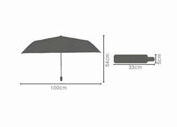 TYZXR Winddichter Regenschirm Compact, zusammenklappbarer Regenschirm Compact Golfschirm für Sun Rain Outdoor Beach, Beste kleine Geschenkidee für Mann & Frau (Farbe: # 1) - 8