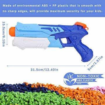 Ucradle Wasserpistole, 2er Set Water Gun Spielzeug für Kinder, 300ML Wasserpistolen mit 9 Meter Reichweite, Party Water Blaster Strand Sommer Pool Badespielzeug Strandspielzeug ab 6 Jahr - 6