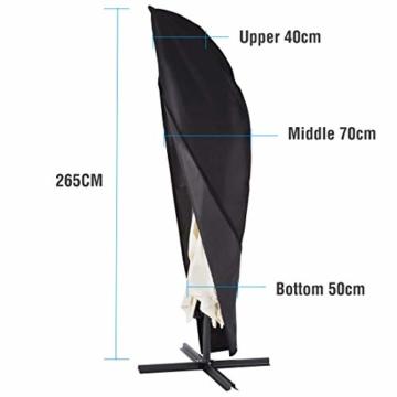 Ultranatura Schutzhülle, für Ampelschirm passend für 2m, 3m, 3,5m Durchmesser, Sonnenschirm-Hülle, UV-Schutz, durchgängiger Reißverschluss und Boden Kordelzug, aus Oxford 600D, wetterfest - 2
