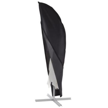 Ultranatura Schutzhülle, für Ampelschirm passend für 2m, 3m, 3,5m Durchmesser, Sonnenschirm-Hülle, UV-Schutz, durchgängiger Reißverschluss und Boden Kordelzug, aus Oxford 600D, wetterfest - 1