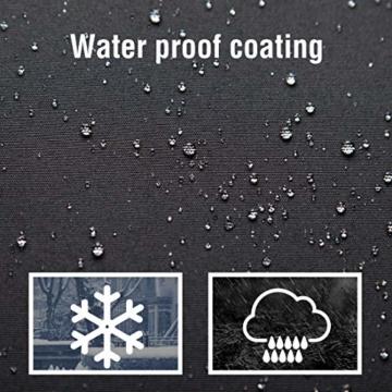 Ultranatura Schutzhülle, für Ampelschirm passend für 2m, 3m, 3,5m Durchmesser, Sonnenschirm-Hülle, UV-Schutz, durchgängiger Reißverschluss und Boden Kordelzug, aus Oxford 600D, wetterfest - 5