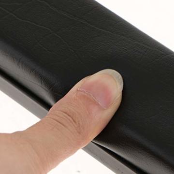 Universal Armauflage Armlehnen Polster für Rollstuhl, Farbwahl - Schwarzes PU - 2