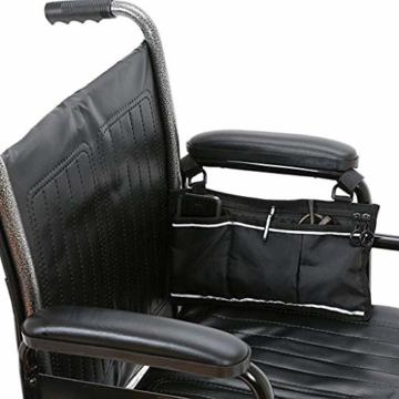 Universal Armauflage Armlehnen Polster für Rollstuhl, Farbwahl - Schwarzes PU - 5