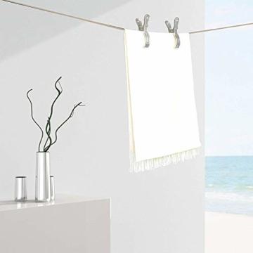 Vicloon 6 Stück Edelstahl Strandtuch Clips Große Wäscheklammern, für Tägliche Wäsche, Strandtuch, Badetuch, Bettwäsche und dicke Kleidung (6 Pcs) - 7