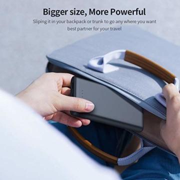 VOOE Power Bank 26800mAh【Hohe Effizienz- Ultrahohe Kapazität】 Externer Akku Power Pack Ladegerät Akkupack 3.1A 2-Port Ausgang Powerbank für Handy Tablet - Schwarz - 7