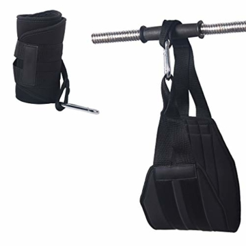 Vxhohdoxs Herren Damen Fitness Armpolster hängendes AB Sling Strap für Pull-Up BH Workout für Krafttraining, Powerlifting, Bodybuilding, Gymnastik, Workout - 6