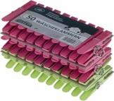 Wäscheklammern 50 Stück aus Kunststoff mit stabiler Aussenringfeder - 1