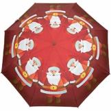 Weihnachtsmann Reizendes warmes Weinrot Süßes Geschenk 3 Falten Auto Öffnen Schließen Regenschirm Leichter Tropfen UV-Schutz Winddicht - 1