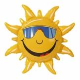 Widmann 2390S - Deko Sonne aufblasbar, Circa 60 cm - 1