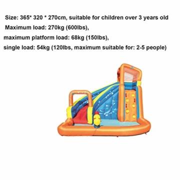 WJSW aufblasbare Spielwaren Sommer-übergroße Wasserrutsche-aufblasbarer Swimmingpool, Baby-Planschbecken-Ozean-Ball-Pool-im Freien surfendes Windsurfen, 365 * 320 * 270cm A - 2