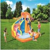 WJSW aufblasbare Spielwaren Sommer-übergroße Wasserrutsche-aufblasbarer Swimmingpool, Baby-Planschbecken-Ozean-Ball-Pool-im Freien surfendes Windsurfen, 365 * 320 * 270cm A - 1