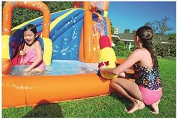 WJSW aufblasbare Spielwaren Sommer-übergroße Wasserrutsche-aufblasbarer Swimmingpool, Baby-Planschbecken-Ozean-Ball-Pool-im Freien surfendes Windsurfen, 365 * 320 * 270cm A - 4