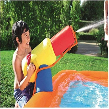 WJSW aufblasbare Spielwaren Sommer-übergroße Wasserrutsche-aufblasbarer Swimmingpool, Baby-Planschbecken-Ozean-Ball-Pool-im Freien surfendes Windsurfen, 365 * 320 * 270cm A - 5