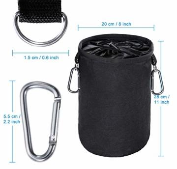 XCOZU Wäscheklammer Beutel zum Aufhängen, Klammerbeutel Wasserdicht mit 2 Kleiderbügel Clips hält Pegs sauber und trocken für Indoor Outdoor Pegs Organizer Lagerung verwenden - 3