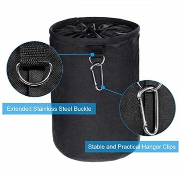 XCOZU Wäscheklammer Beutel zum Aufhängen, Klammerbeutel Wasserdicht mit 2 Kleiderbügel Clips hält Pegs sauber und trocken für Indoor Outdoor Pegs Organizer Lagerung verwenden - 4
