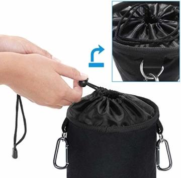 XCOZU Wäscheklammer Beutel zum Aufhängen, Klammerbeutel Wasserdicht mit 2 Kleiderbügel Clips hält Pegs sauber und trocken für Indoor Outdoor Pegs Organizer Lagerung verwenden - 5