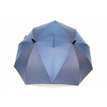 XIYAO Doppelte Größe hohen Regenschirm, Doppelschirm, Paar Regenschirm, Zwei Personen Regenschirm, Regenschirme für Baby, Geschenk für Liebhaber - 2