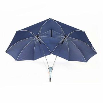 XIYAO Doppelte Größe hohen Regenschirm, Doppelschirm, Paar Regenschirm, Zwei Personen Regenschirm, Regenschirme für Baby, Geschenk für Liebhaber - 1