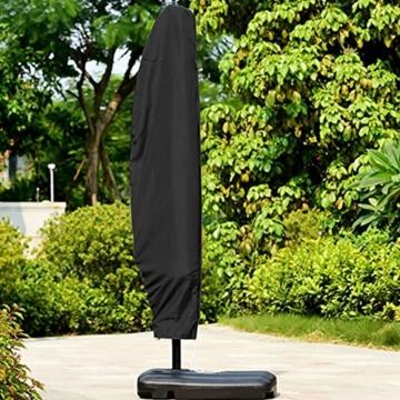 YMYP08 Patio-Regenschutz, 210D Oxford-Stoff-Markisenplanen-Regenschirm-Set, Regen-Strandschirm-Schutzhülle Im Freien, Schwarze Regenschirm-Schutzhülle for Den Garten (Size : 280cm: 30 * 81 * 45cm) - 6