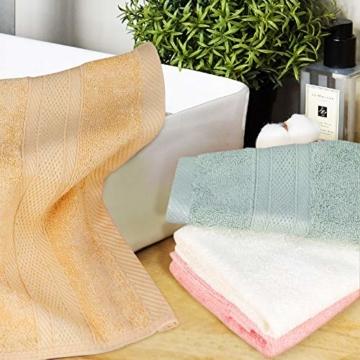 Yoofoss Seiftücher 8er Gästehandtücher 33 x 33cm Handtücher Set Waschlappen Saugfähig Gäste-WC Multifunktion Bambus - 2