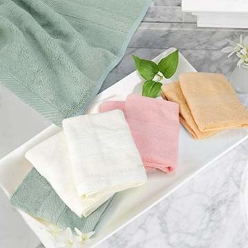 Yoofoss Seiftücher 8er Gästehandtücher 33 x 33cm Handtücher Set Waschlappen Saugfähig Gäste-WC Multifunktion Bambus - 3