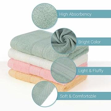 Yoofoss Seiftücher 8er Gästehandtücher 33 x 33cm Handtücher Set Waschlappen Saugfähig Gäste-WC Multifunktion Bambus - 4