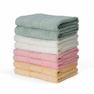 Yoofoss Seiftücher 8er Gästehandtücher 33 x 33cm Handtücher Set Waschlappen Saugfähig Gäste-WC Multifunktion Bambus - 1