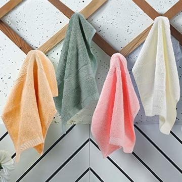 Yoofoss Seiftücher 8er Gästehandtücher 33 x 33cm Handtücher Set Waschlappen Saugfähig Gäste-WC Multifunktion Bambus - 5